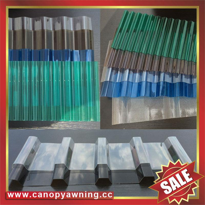 polycarbonate corrugated roofing sheet for greenhouse building factory warehouse 2