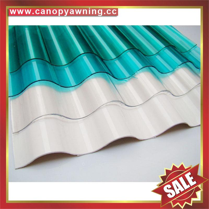 polycarbonate corrugated roofing sheet for greenhouse building factory warehouse 1