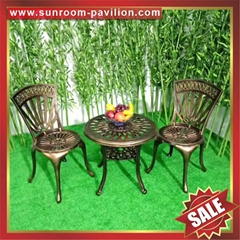 USA hot selling outdoor waterproofing garden cast aluminum chair table furniture
