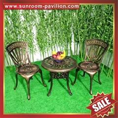 outdoor waterproofing garden cast aluminum aluminium chair table furniture