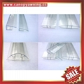 polycarbonate pc buckle connector profile snap for hollow pc sheet