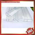 polycarbonate PC U cover cap profile edge for pc sheeting