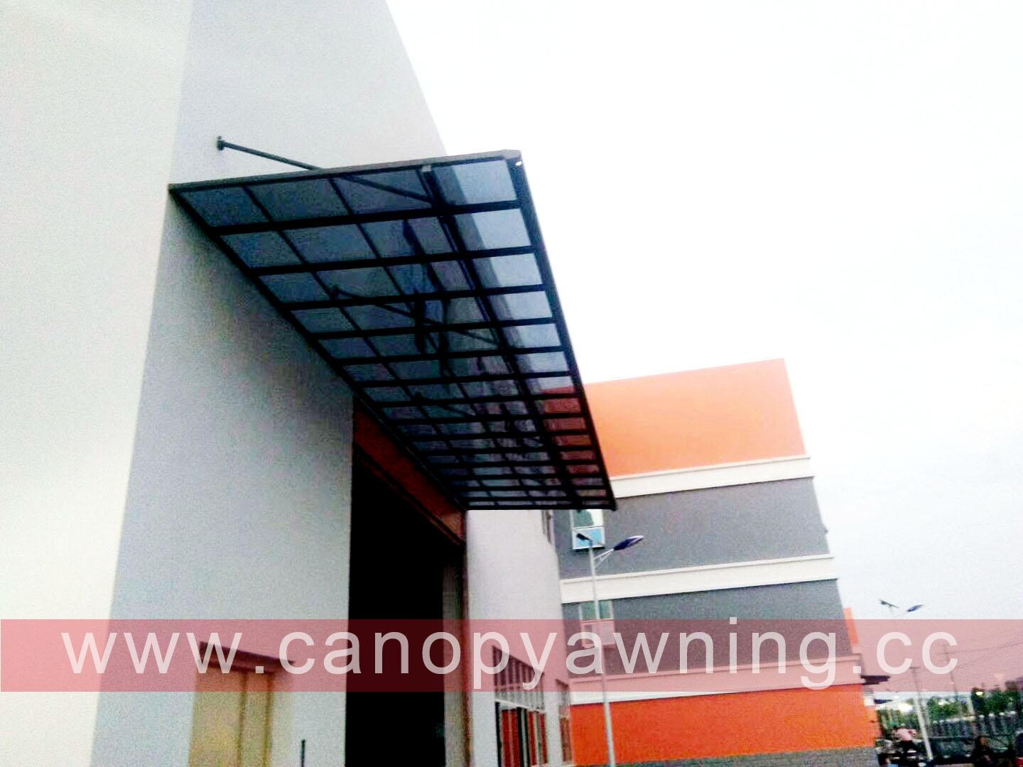 window door polycarbonate aluminum canopy awning shelter for sale