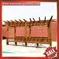outdoor sunshade aluminium wood look