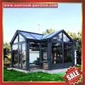 优质耐用高级定制钢化玻璃金属铝合金阳光房温室屋 7