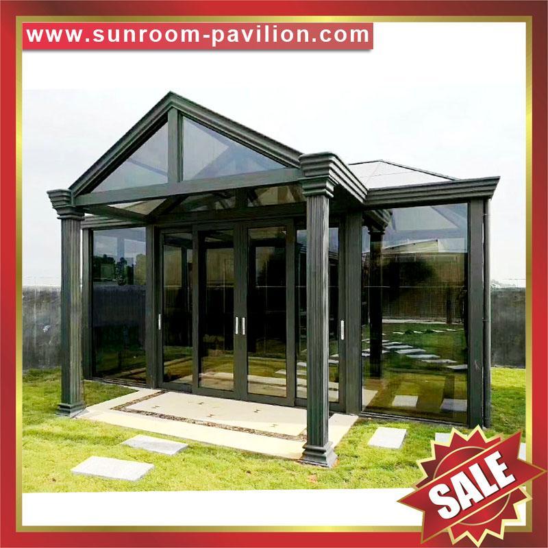 优质耐用高级定制钢化玻璃金属铝合金阳光房温室屋 1
