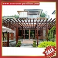 outdoor sunshade wood style aluminium