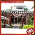 prefab public aluminium alloy metal park garden grape trellis Pergola vine grids 2