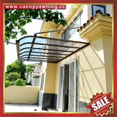 patio gazebo door window pc polycarbonate aluminum canopy awning shelter kits