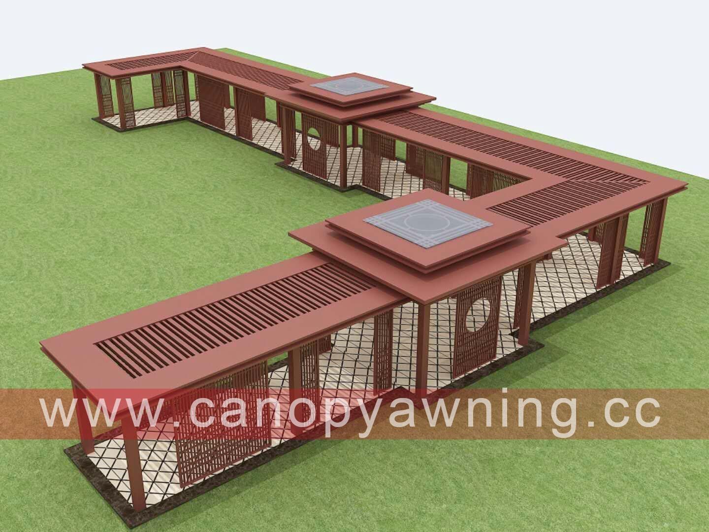 walkway aluminium canopy