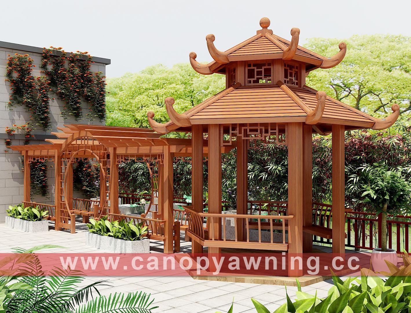 outdoor garden pavilion