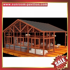 hot sale garden outdoor aluminum sunroom glass house room greenhouse cottage inn