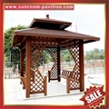prefab outdoor aluminium pavilion pagoda gloriette for garden hotel project 2