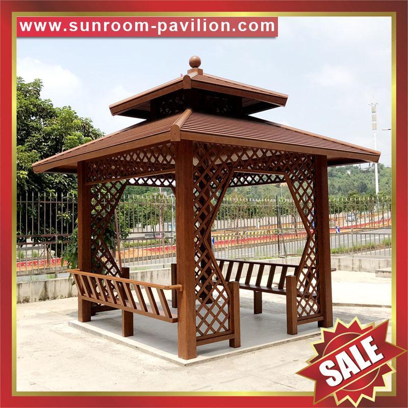 Prefab Outdoor Aluminium Pavilion Pagoda Gloriette For Garden