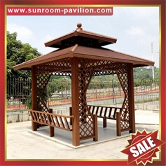 prefab outdoor aluminium pavilion pagoda gloriette for garden hotel project