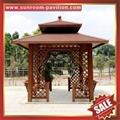 prefab outdoor aluminium pavilion pagoda gloriette for garden hotel project 3