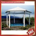 prefab outdoor aluminium pavilion pagoda gloriette for garden hotel project 5