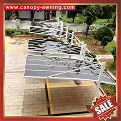 別墅公寓小區花園防晒擋雨遮陽PC板鋁合金鋁制金屬車棚蓬篷
