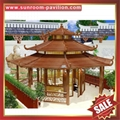 outdoor garden wood look aluminum metal gazebo pavilion pagoda gloriette 7