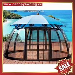 garden alu polycarbonate aluminium sunroom sun house room gazebo pavilion tent