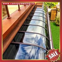 别墅住房屋露台门廊门窗铝合金铝制PC耐力板遮阳雨棚蓬篷