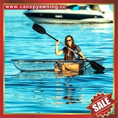 beautiful sailing fishing seeing through clear pc polycarbonate canoe kayak boat