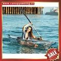 lake ocean fishing transparent clear pc polycarbonate canoe kayak boat for sale