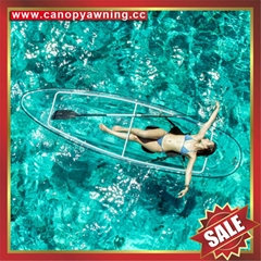 sea river sailing sightseeing tour transparent polycarbonate pc canoe kayak boat