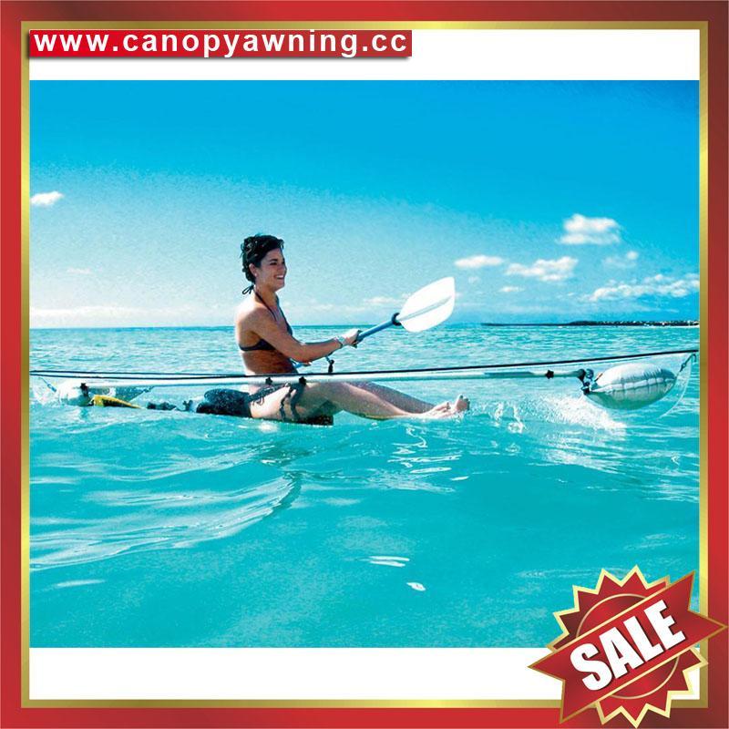 sea river sailing sightseeing tour transparent polycarbonate pc canoe kayak boat 7