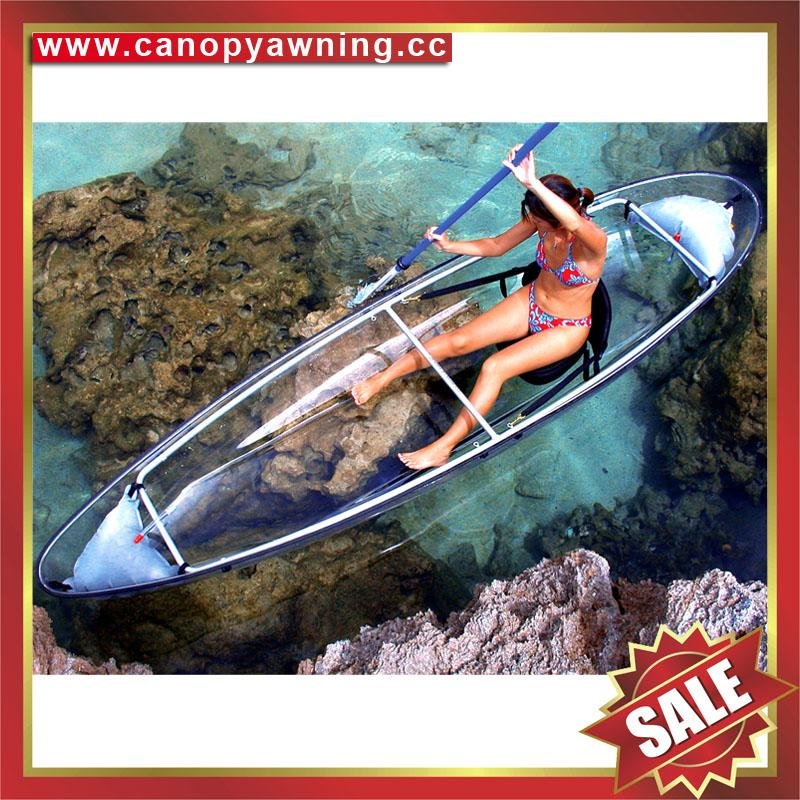 small fishing touring river crystal clear pc polycarbonate canoe kayak boat 1