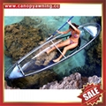 small fishing touring river crystal clear pc polycarbonate canoe kayak boat