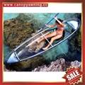 transparent two seats pc polycarbonate sailing sightseeing canoe kayak boat
