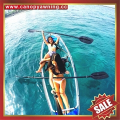transparent two seats pc polycarbonate sailing sightseeing canoe kayak boat