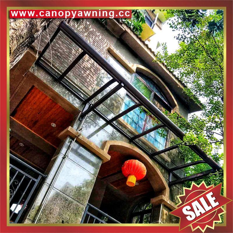 别墅楼房公寓小区门窗露台阳台天台铝合金铝制卡布隆板雨阳棚蓬篷 5
