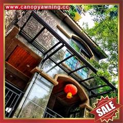 門窗露台陽台PC耐力板鋁制金屬鋁合金抗UV防晒擋遮陽雨棚蓬篷