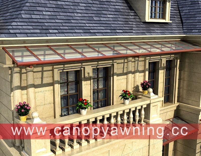 polycarbonate aluminum metal balcony cover canopy canopies