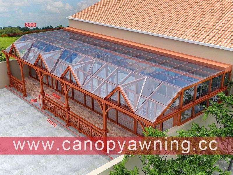 outdoor solar aluminum metal glass sunroom sun house manufacturers