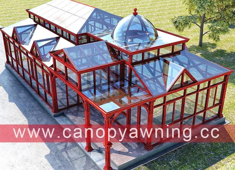 户外铝合金玻璃阳光房工程