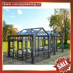 別墅花園鋁制鋁合金玻璃溫室屋人字頂陽光房露台房