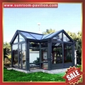 prefab modern new fashion aluminium alloy tempered glass sun house sunroom cabin 2