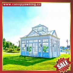 歐式美式西式豪華鋁合金鋁制玻璃人字頂陽光房
