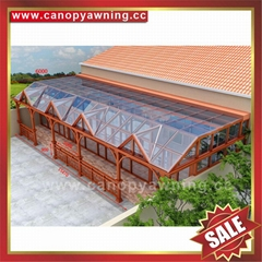 excellent wind resistance waterproof metal aluminum glass sun room sunroom house