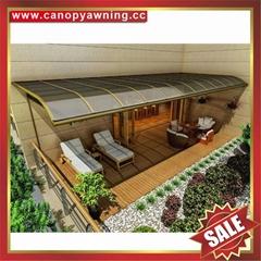 豪華酒店公寓別墅鋁合金鋁制PC耐力板門窗雨棚雨陽篷遮陽蓬
