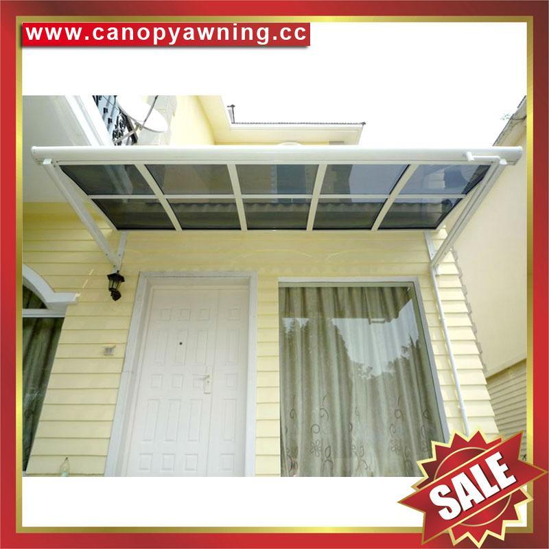 门窗LR型铝合金铝制PC耐力板防晒抗UV遮挡雨阳棚蓬篷 1