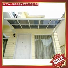 门窗LR型铝合金铝制PC耐力板防晒抗UV遮挡雨阳棚蓬篷