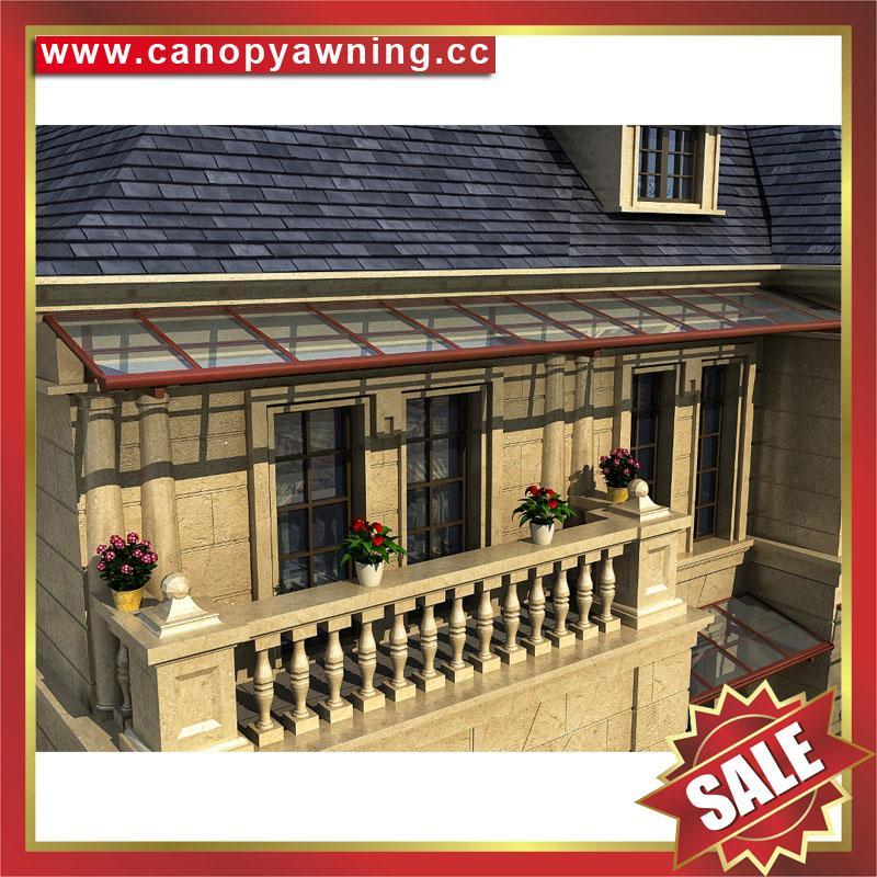 優質耐用鋁合金聚碳酸酯板陽光露台門窗雨棚雨陽篷遮陽蓬 2