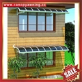 waterproofing anti-uv pc aluminum canopy awning shelter kits for house building