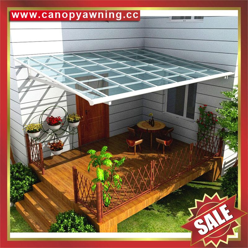 canopy awning rain sun shelter with aluminum frame polycarbonate sheet cover 2