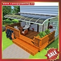 canopy awning rain sun shelter with aluminum frame polycarbonate sheet cover 3