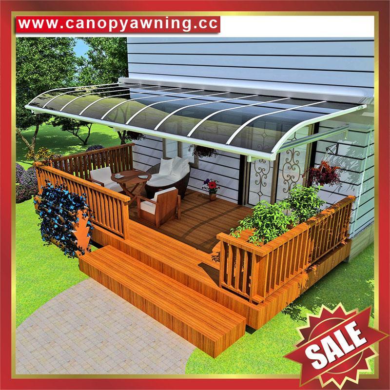高级定制防晒遮阳雨门窗露台铝合金铝制金属耐力板棚蓬篷 2